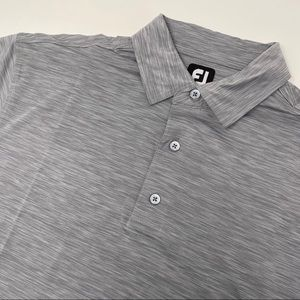 FootJoy FJ Short Sleeve Gray Golf Polo Shirt
